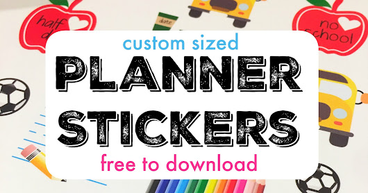VIDEO TUTORIAL: Use Silhouette Pixscan to Perfectly Size Planner Stickers (and Free Sticker Set)