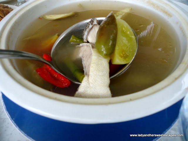 fish sinigang at Caluwayan Palm Island Resort