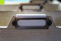 Schilder: Eurosell Holz Schreibtischorganizer Brief Post Ablage Briefablage Postablage Briefständer Vintage Retro Design Designer Dokumenten Prospekte Ständer