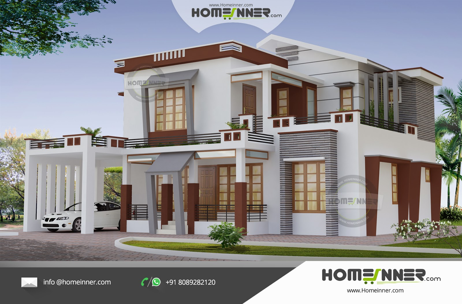 Modern Attractive 4 Bedroom Luxury Indian Home Design