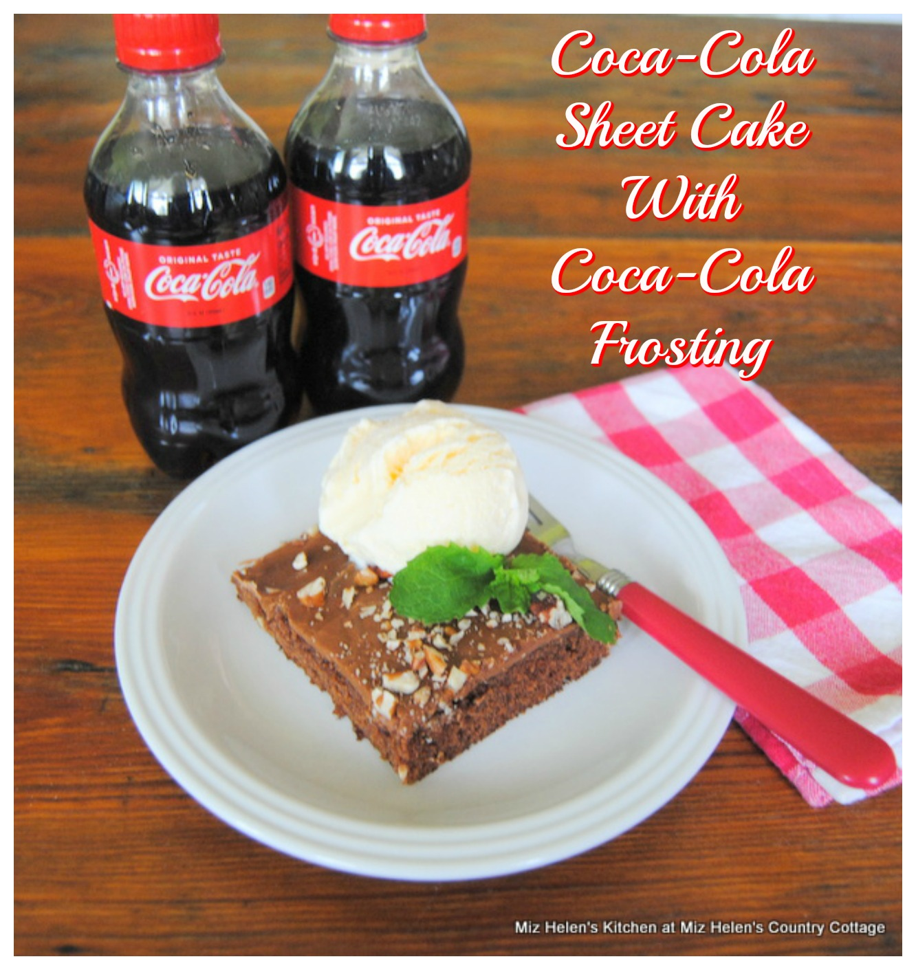 Coca Cola Sheet Cake With Coca Cola Frosting
