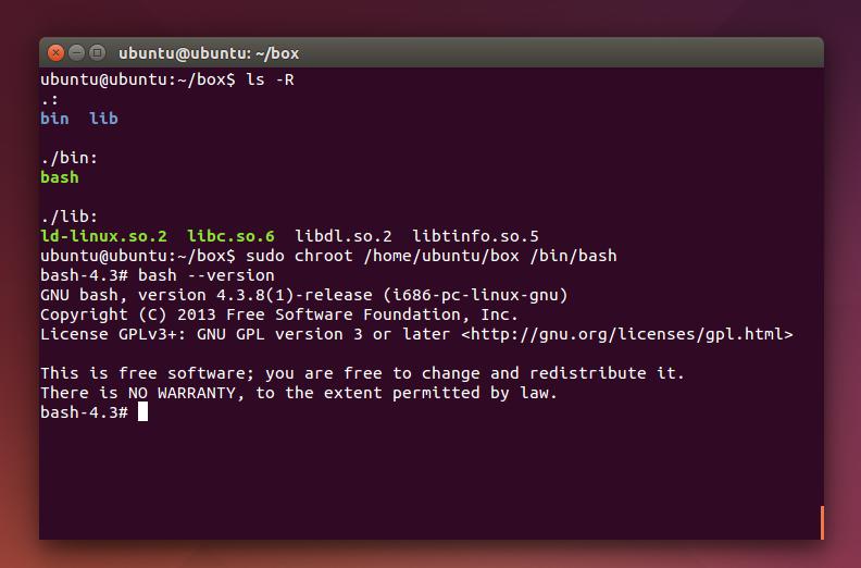 A Basic Chroot Example in Ubuntu
