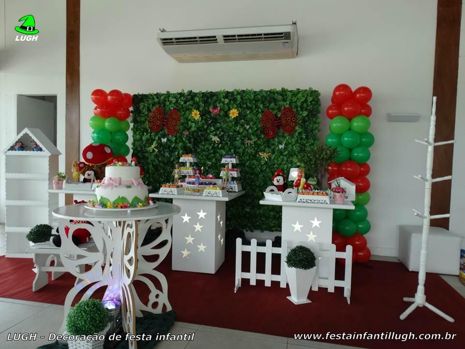 decoracao muros jardim : Decora??o Jardim Encantado, mesa tem?tica infantil - Festa ...