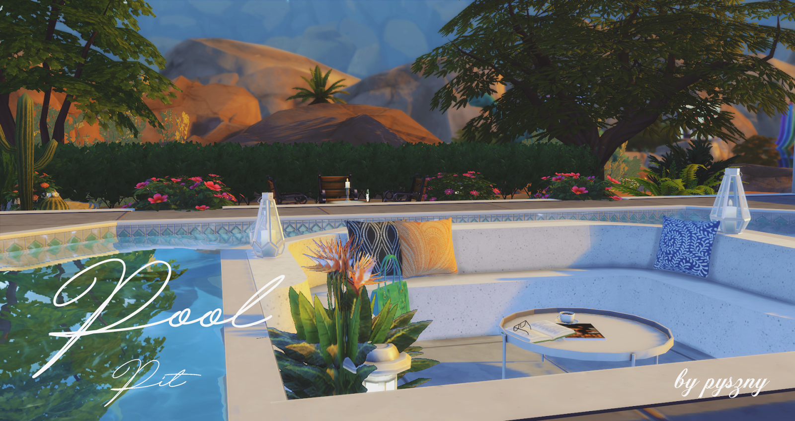 Pool pit new set for Pool designs sims 4
