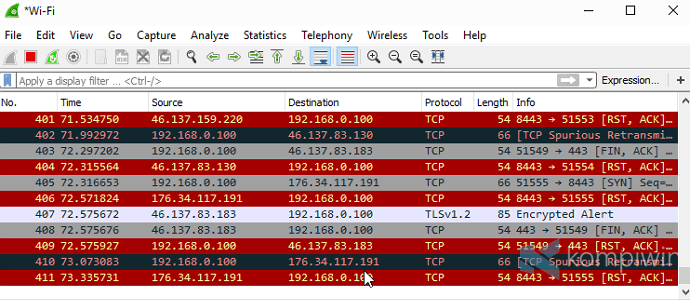 wireshark disadap