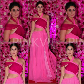 करीना कपूर गोल्डन रोज अवॉर्ड्स २०१८, करीना कपूर पिंक और रेड गाउन, Kareena Kapoor at golden rose awards 2018, Kareena Kapoor, in pink and red gown, beautiful Kareena Kapoor,