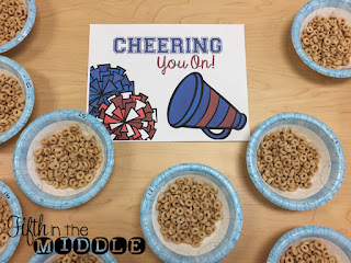 Cheering You On - Cheerios as a testing treat