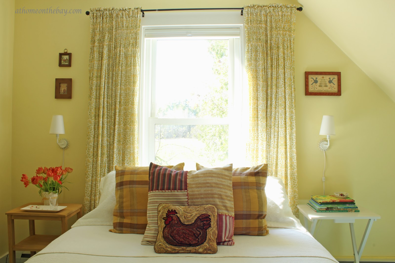 Kitchen Curtains For Yellow Walls Guest Bedroom