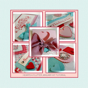 Hearts a Flutter January Kit Tutorial