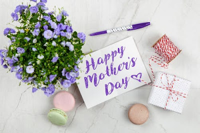 Happy Mother's Day with purple flowers  Mother's Day Bonding Activity Challenge
