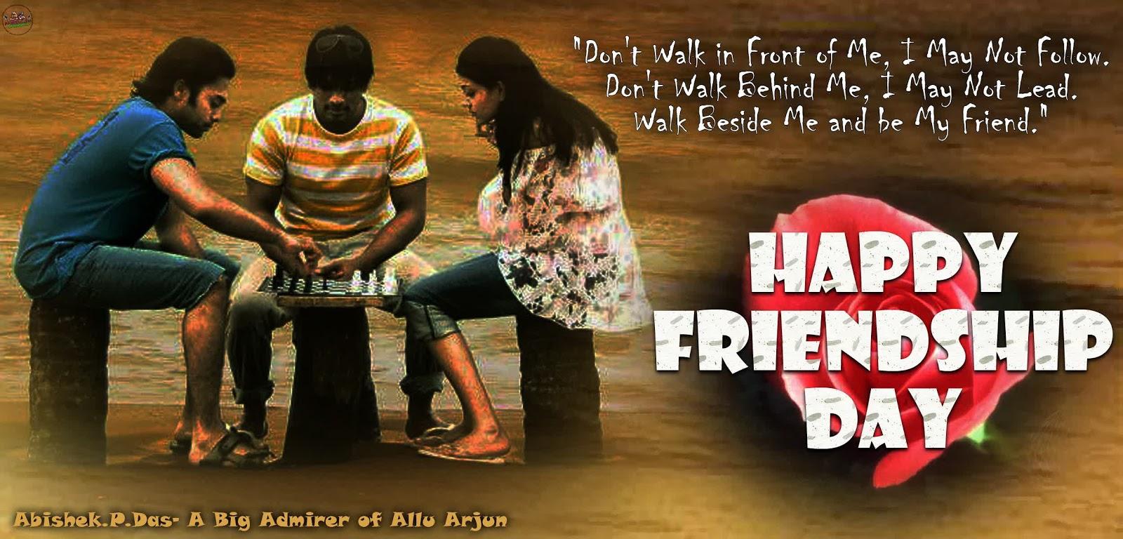 Allu Arjun's Latest Wallpapers: Allu Arjun: Friendship Day