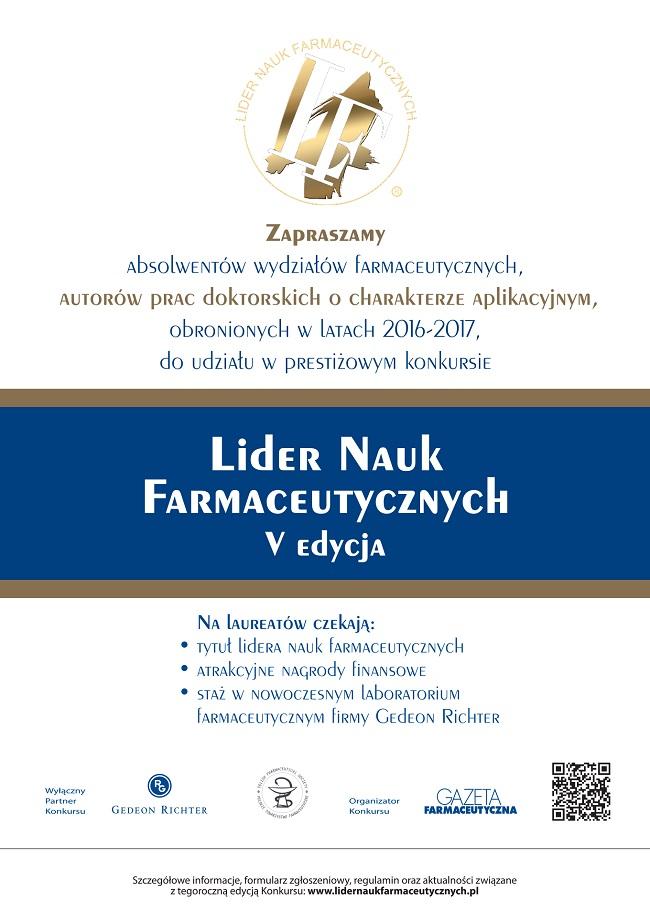 Lider Nauk Farmaceutycznych - plakat