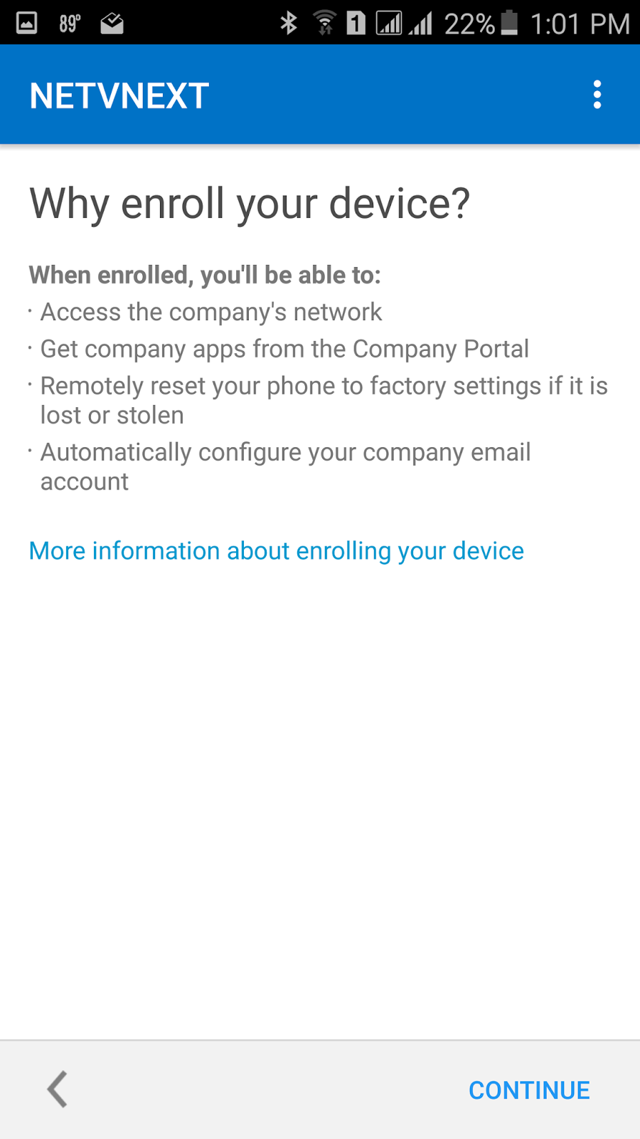BYOD Android Enrollment in Intune | NETvNext Blog