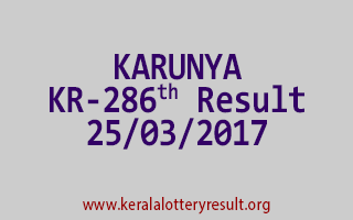 KARUNYA Lottery KR 286 Results 25-3-2017