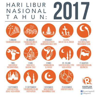 Inilah Daftar Hari Libur Nasional dan Cuti Bersama Tahun 2017 www.guntara.com
