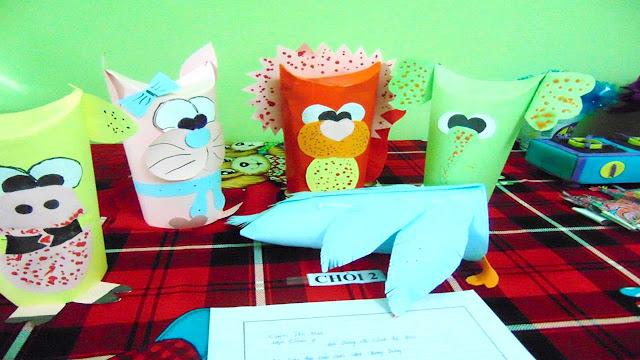 Đồ dùng tự làm của giáo viên mầm non - đồ chơi mầm non làm từ phế liệu