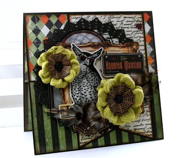 The Haunted Mansion Card by Ginny Nemchak using BoBunny Wonderfully Wicked