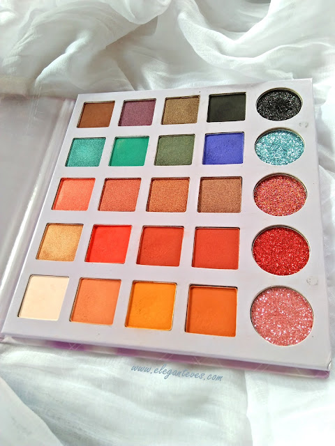 Glitter Galaxy Fusion Eyeshadow palette: Review/Swatches