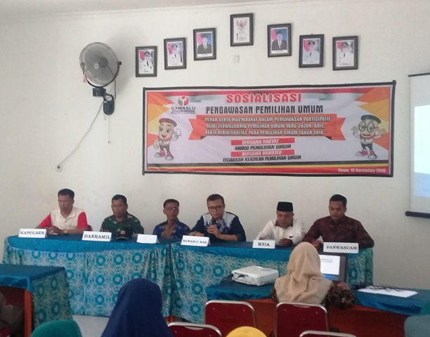 Sosialisasi Pengawasan Pemilu di Ulakan Tapakis, Ketua Bawaslu Padang Pariaman Ajak Peran Serta Masyarakat Awasi Pemilu