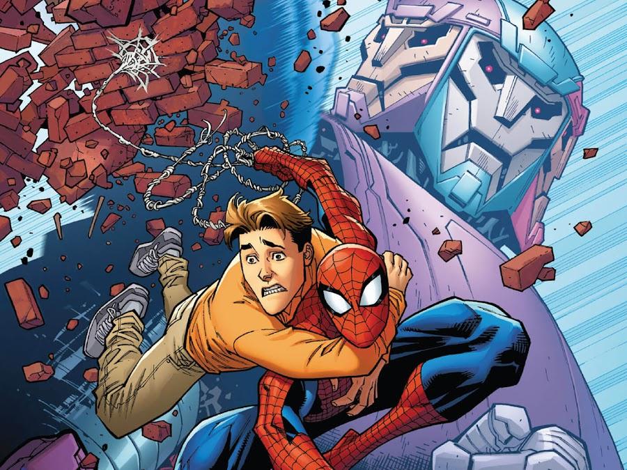 tri sentinel spider man marvel comics peter parker ryan ottley