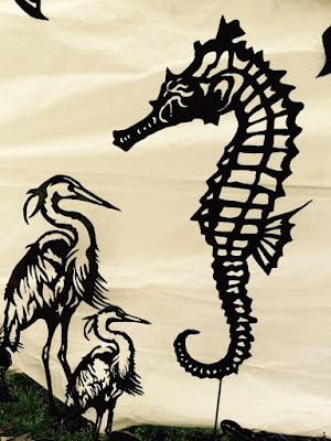 Summerville Flowertown Festival 2015 - Metal Egrets and Seahorse from Metal Art Signs Designs | The Lowcountry Lady