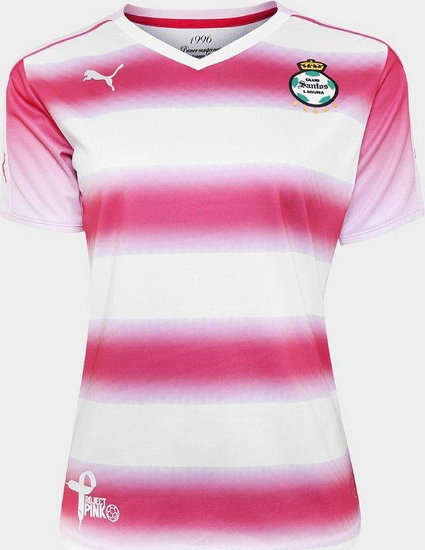 5536b9cc4d848 Santos Laguna adere a campanha do Outubro Rosa - Show de Camisas