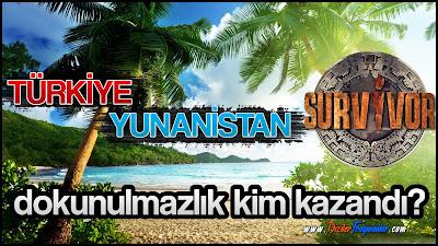 Survivor, 3 Şubat, Dokunulmazlık Oyunu, Survivor Dokunulmazlık, Kim Kazandı, Survivor Türkiye Yunanistan,