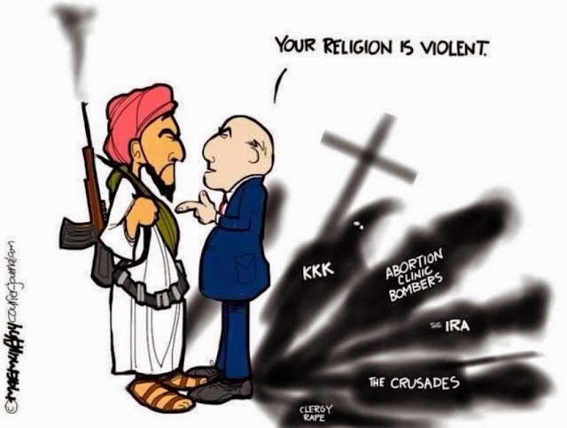 Your Religion Is Violent Cartoon Picture