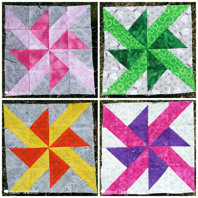 BabcoUnlimited.blogspot.com - Pinwheel Blocks
