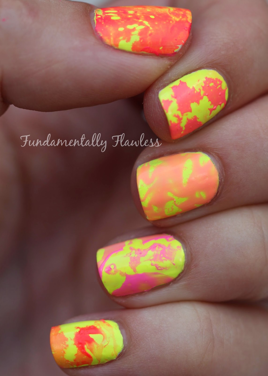 Fundamentally Flawless: Triplet Nails: Water Spotted With
