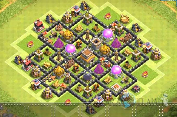 Base Farming TH 8 Clash Of Clans Terbaru 2017 tipe 7