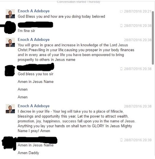 Lady Narrates How Her Dad Was Scammed By A Fake Pastor Adeboye  Pics
