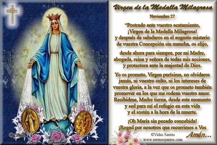 Nuestra Señora De La Medalla Milagrosa 27 Noviembre Comunidad Catòlica Tiberiades Gabitos