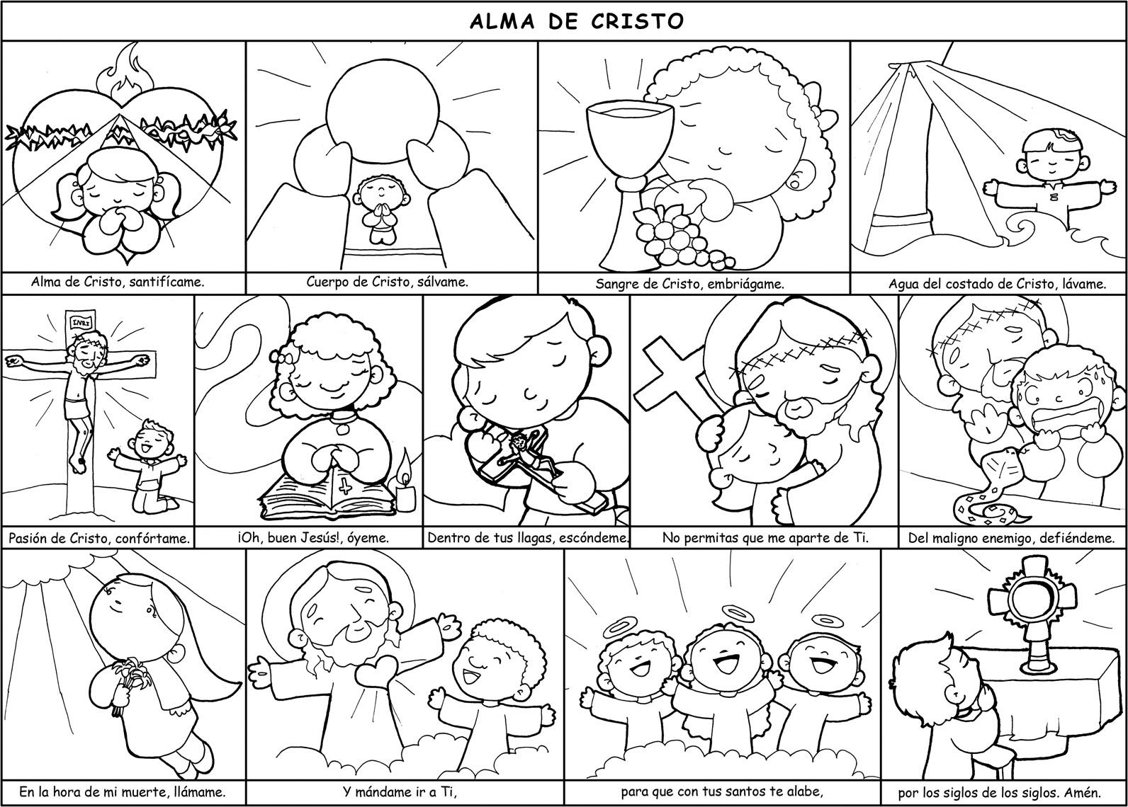 Las Misiones Y Los Niños Dibujos Para Colorear De Niños: Dibujos Para Catequesis: ALMA DE CRISTO