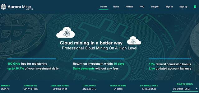 Free 100Ghz đào Bitcoin miễn phí