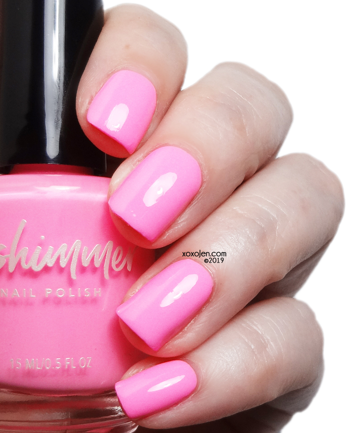 xoxoJen's swatch of KBShimmer Pink Or Swim