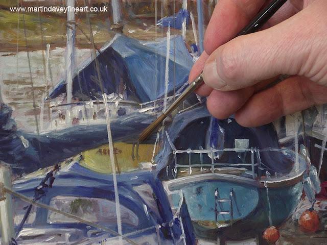 Artist yachts WIP eling artwork davey