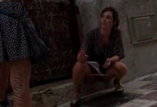 Girls Gotta Go 42 (Spain street festival pissing voyeur - Drunk girls peeing at a public festival)