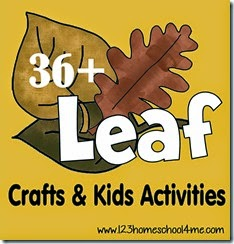 36 Leaf Crafts & Kids Activities