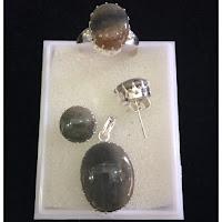 Jual Set Perhiasan Perak Batu Akik