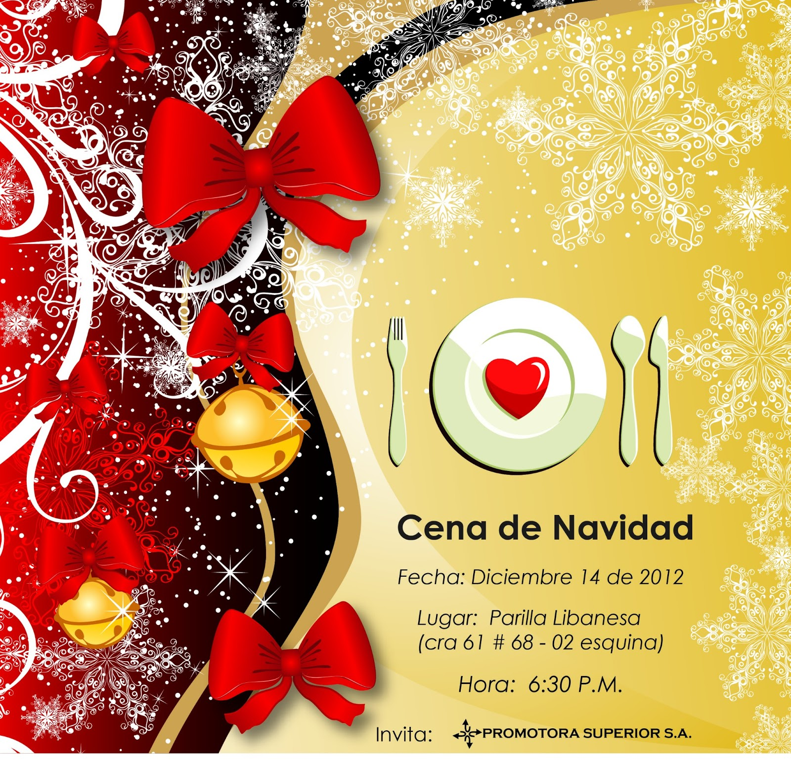 Invitacion Cena Navidad Pictures To Pin On Pinterest