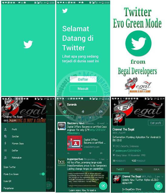 Twitter Mod Evo Green Theme v6.26.0 Apk Clone unclone