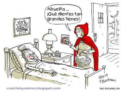 Meme de humor sobre Caperucita roja