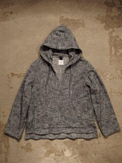 "ts(s) ""Loose Fit Pullover Parka in Navy Knitty Dobby Cotton*Nylon Cloth"""