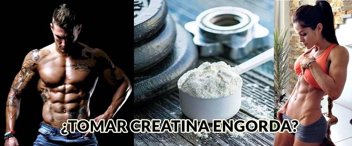 ¿Es verdad que tomar creatina puede hacerme engordar y ganar peso?