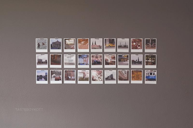 Erinnerungen an die Wand bringen mit Fotos im Polaroid-Stil als Wanddeko | Tasteboykott Wohnblog.