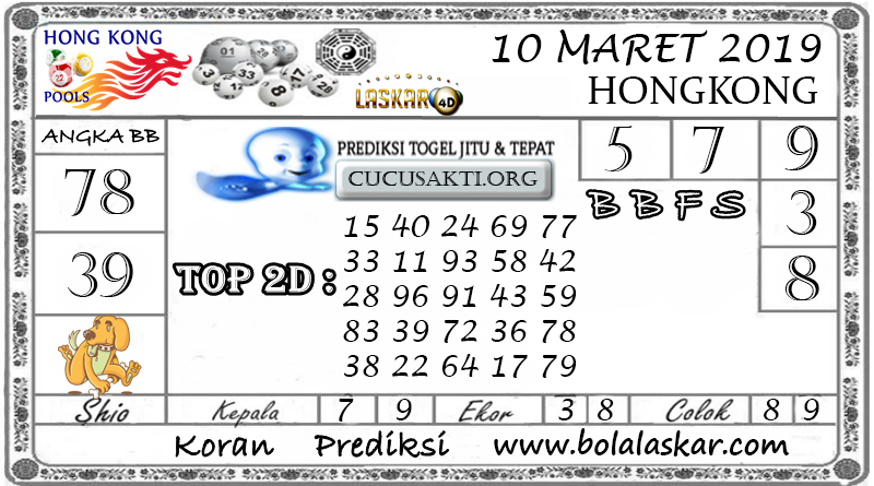 Prediksi Togel HONGKONG LASKAR4D 10 MARET 2019