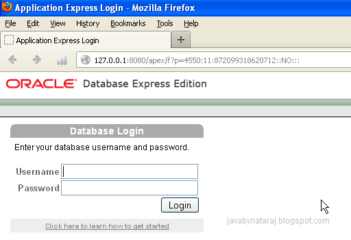 Oracle express 10g