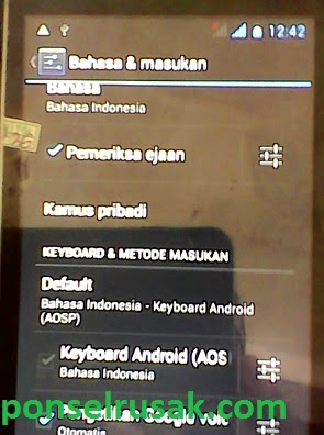Steps select the language Indonesia on advan s4c is here.