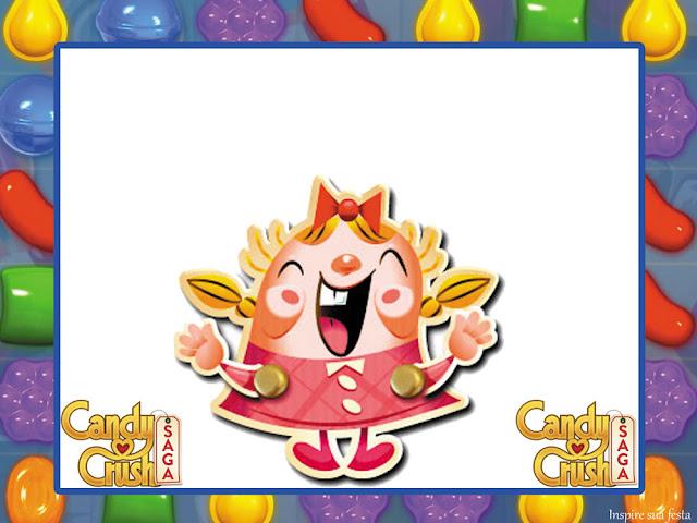 Para hacer Invitaciones, Tarjetas, Marcos de Fotos o Etiquetas de Fiesta de Candy Crush para Imprimir Gratis.